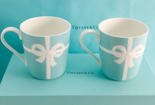 ティファニーTIFFANY&CO. ブルーリボン マグカップ 2個セット