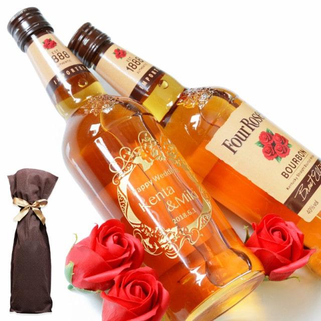バーボン ウイスキー『フォアローゼズ 700ml 』名前入り