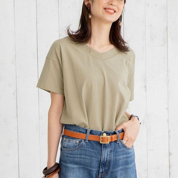 コーエン/UVカット対応USAコットンVネックTシャツ