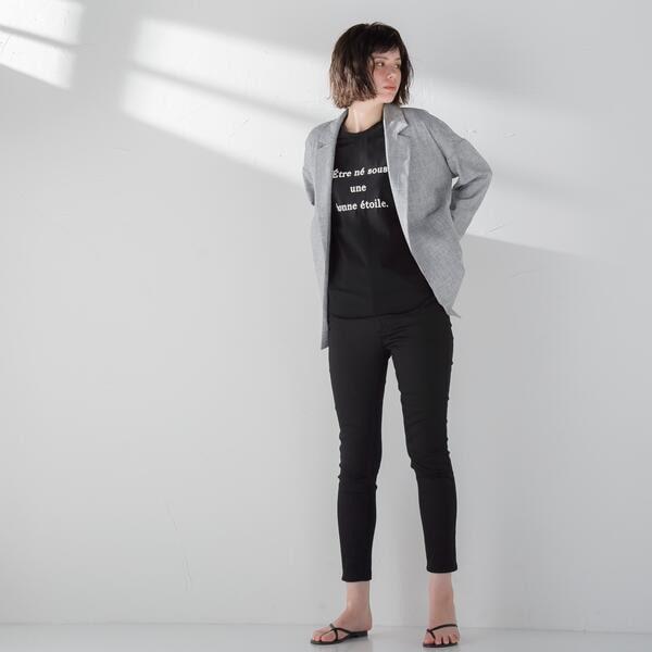 メイソングレイ/【socolla】半袖ロゴプリントTシャツ