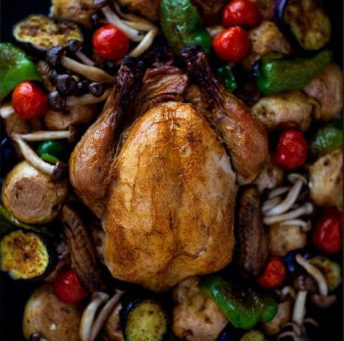 ローストチキン 県産若鶏使用!丸鶏 丸ごと1羽 鶏の丸焼き