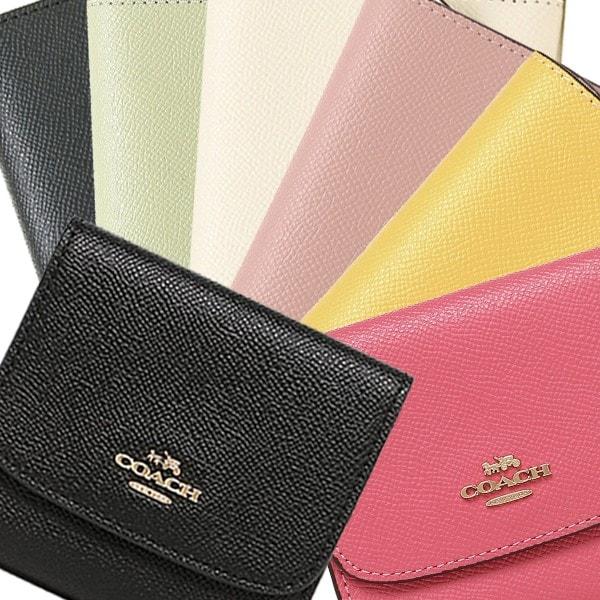 COACH F87588 クロスグレインレザー スモールウォレット 二つ折り財布