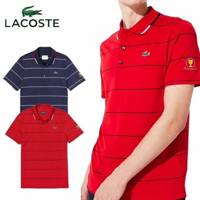 LACOSTE(ラコステ) ピンボーダーゴルフポロシャツ