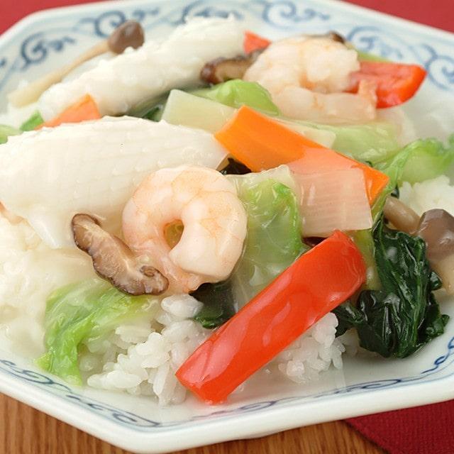 彩り野菜の中華丼 塩味・醬油味 180g×各4袋 計8袋