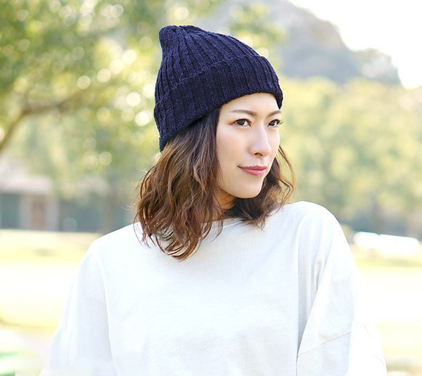 綿100%ニット帽