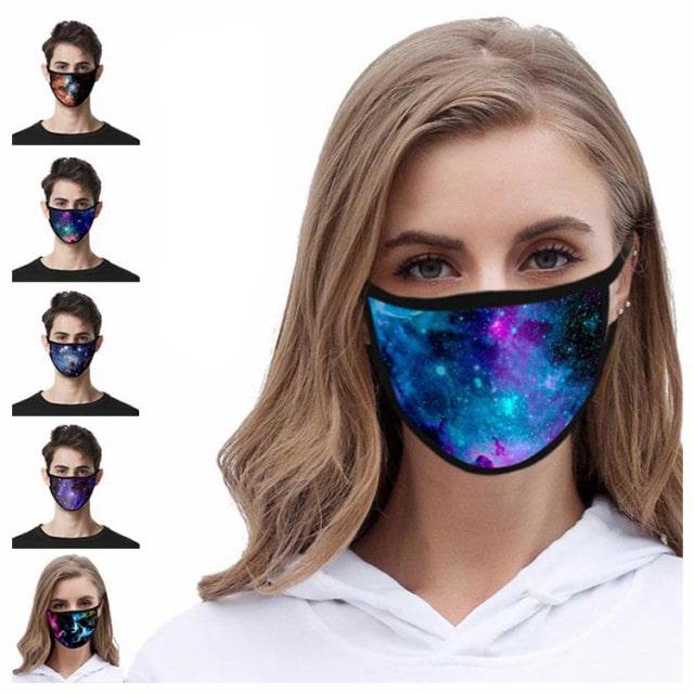 星空柄マスク 5枚セット