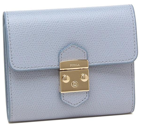 折りたたみ財布ブルー