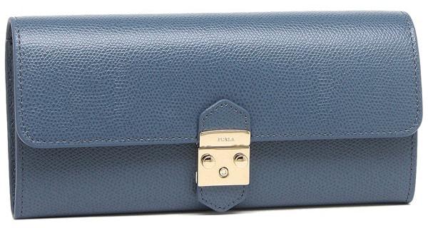 長財布ブルー