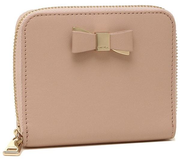 折りたたみ財布ピンク