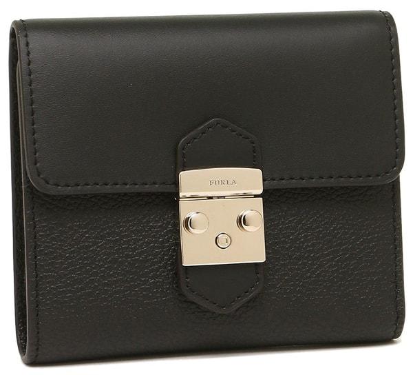 折りたたみ財布ブラック