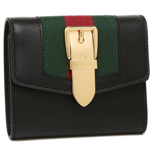 グッチ 折財布 レディース GUCCI 476081 CWLSG 1060 ブラック