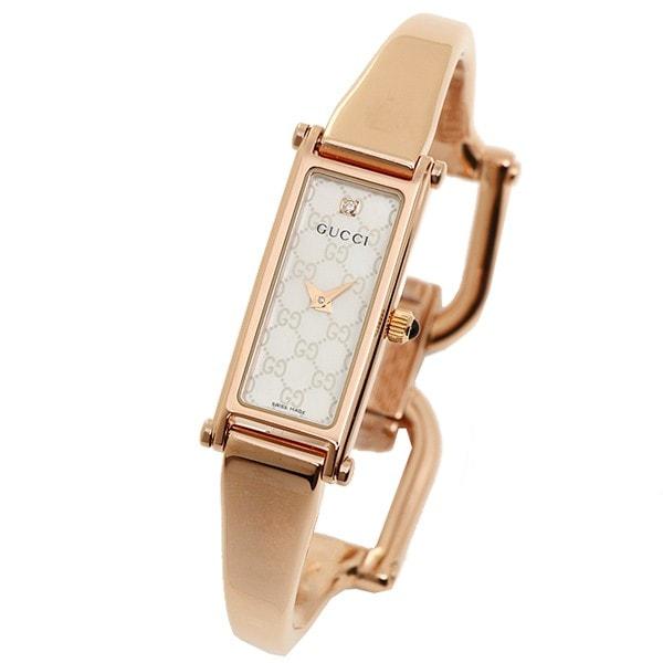GUCCI YA015560 1500シリーズ 腕時計 ウォッチ ホワイトパール/ピンクゴールド