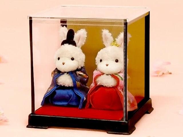 雛人形 幸せ運ぶ雛バニーケース入り