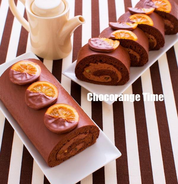 ショコランジュロールケーキ