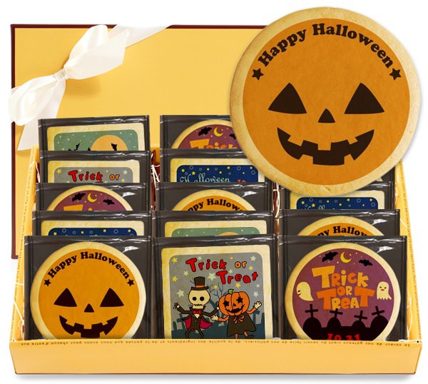 ハロウィン お菓子 メッセージクッキーお得な5種類15枚セット