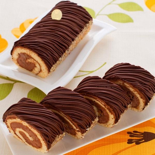 濃厚ショコラをダブル使い!生しょこらモンブラン ロールケーキ
