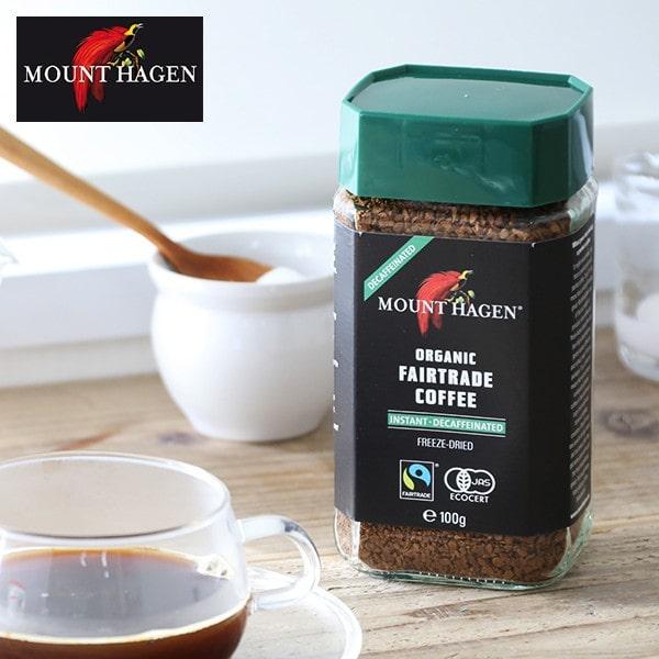 マウントハーゲン オーガニック フェアトレード カフェインレス インスタントコーヒー 100g