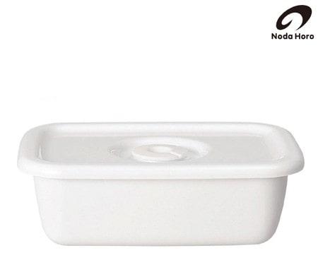 野田琺瑯 White Series レクタングル深型 S琺瑯蓋付