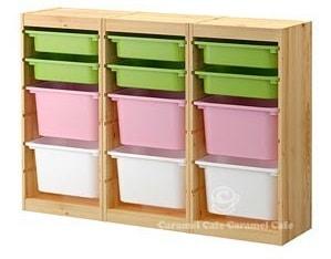 【IKEAイケア】トロファストTROFAST  収納コンビネーション,パイン材,マルチカラー