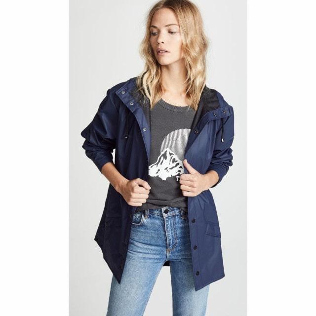Rains(レインズ)レディース レインコート アウター rain jacket Blue
