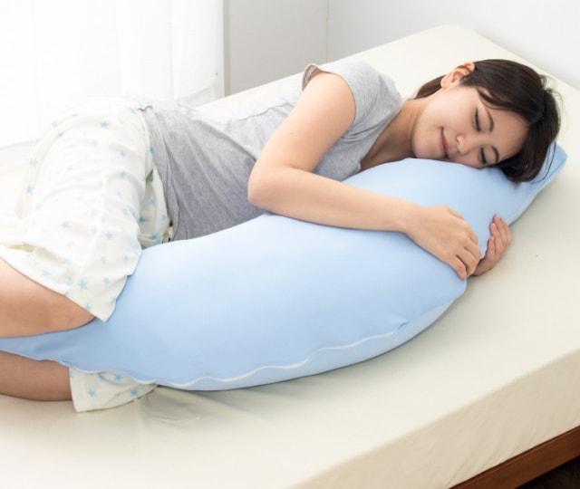 テイジン 抱き枕 日本製ボディクッション 接触冷感カバー付き