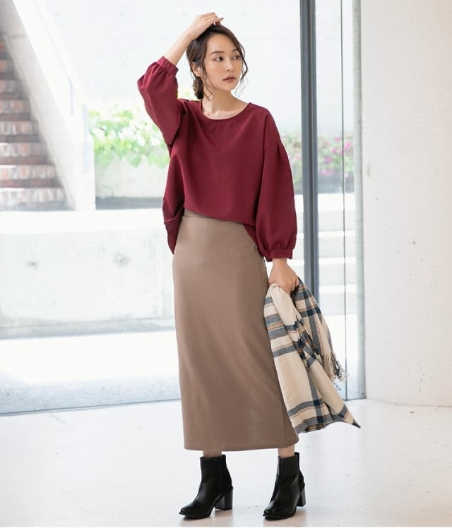 選べる3丈ポンチタイトスカート