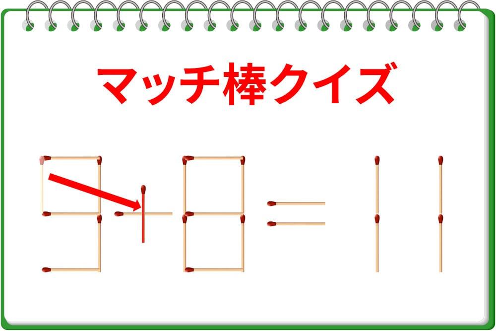 「9-8=11」?1本動かして正しい式へ