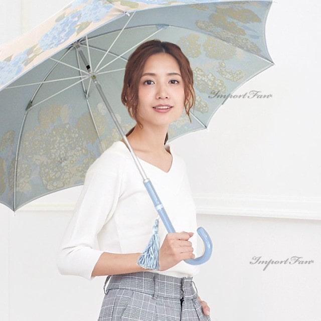 槙田商店 晴雨兼用 紫陽花 UVカット 日傘
