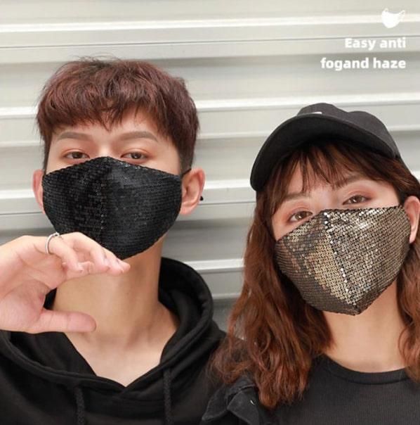 スパンコール マスク