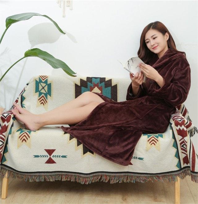 暖か着る毛布 ルームウェア ロングガウン