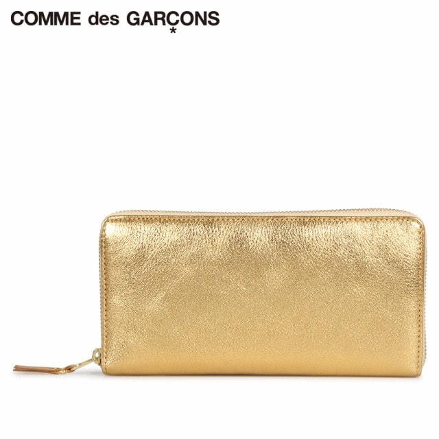 COMME des GARCONS 財布 長財布 メンズ レディース ラウンドファスナー 本革 GOLD AND SILVER WALLET ゴールド SA0110G