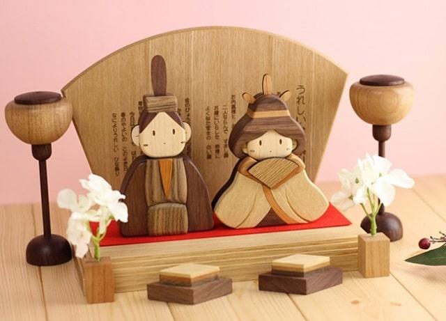 ササキ工芸 木製ひな人形DXセット