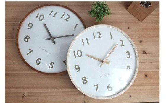 【時計】木製掛け時計