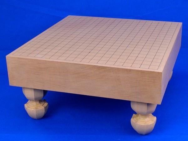碁盤 新桂3寸足付碁盤