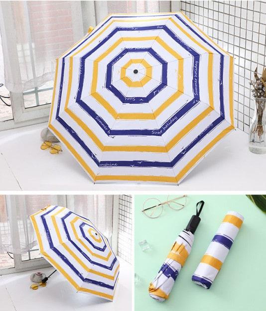 折りたたみ傘 ボーダー 晴雨兼用
