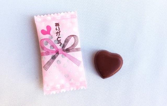 のし紙風チョコレート