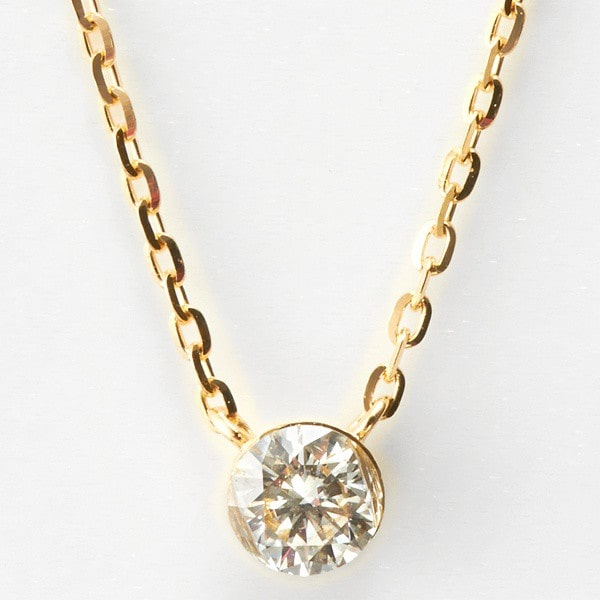 agete/ K18ダイヤモンドネックレス
