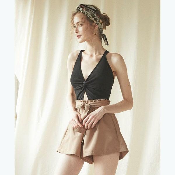 ティティベイト(titivate)/【SEA DRESS】ウエストリボン付きショートパンツ/水着