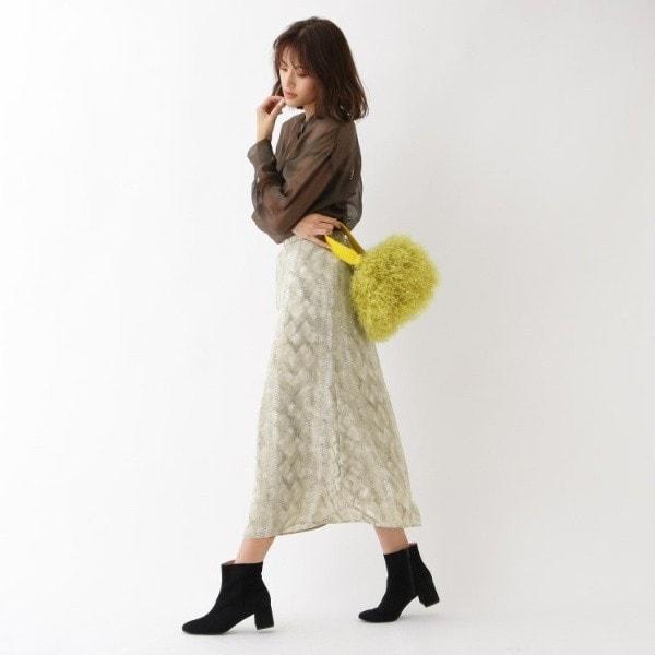 アクアガール(aquagirl)/パイソン柄Aラインスカート