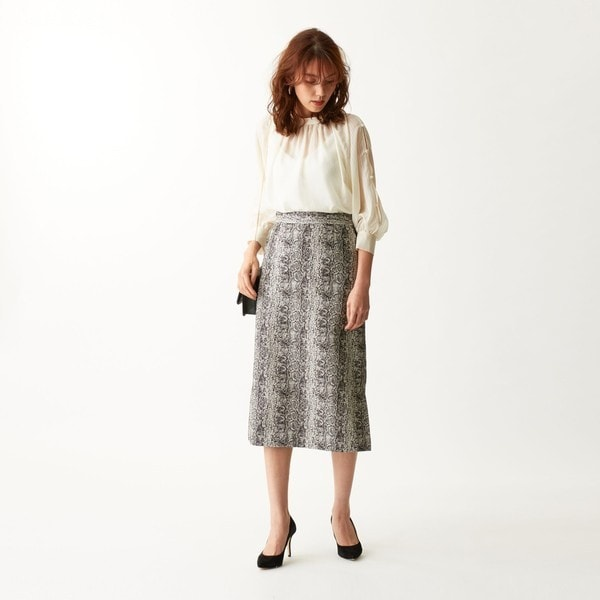 【NEW】エメル リファインズ(EMMEL REFINES)/SMF パイソンジャカード Iラインスカート