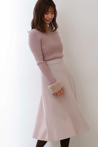 プロポーションボディドレッシング(PROPORTION BODY DRESSING)/フルッフィーブークレーフレアスカート