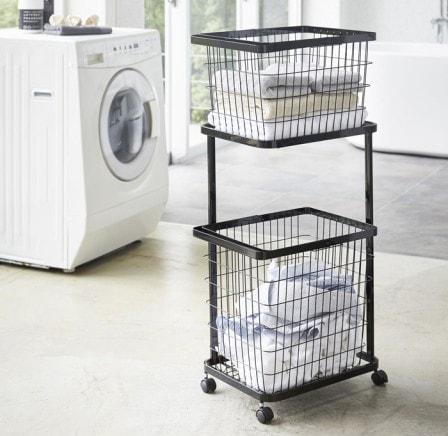 Laundry Wagon + Basket (ランドリーワゴン+バスケット)