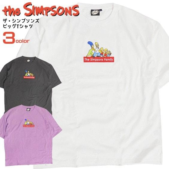 ザ・シンプソンズ ボックスロゴビッグTシャツ