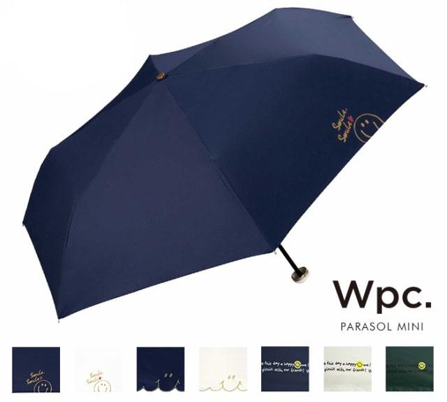 スマイリー×Wpc. 遮光折りたたみ日傘