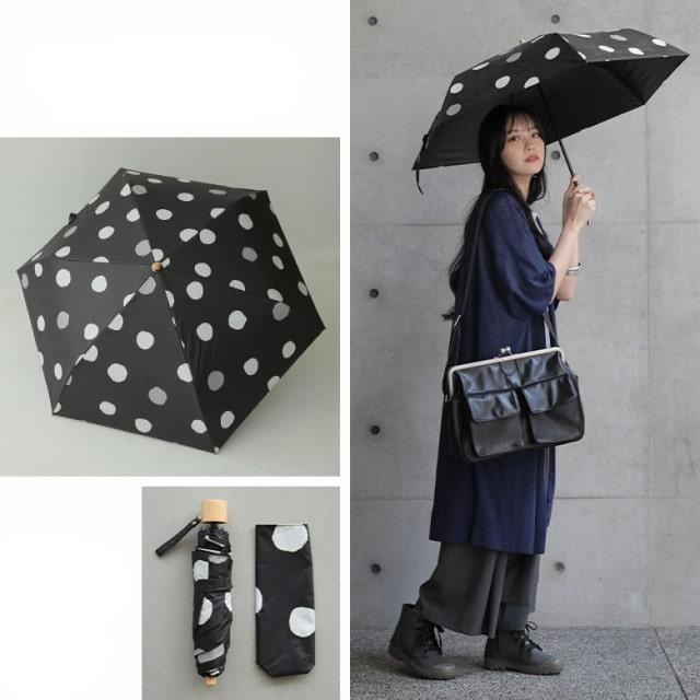 ランダムドット柄折りたたみ傘
