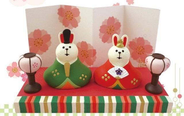 ウサギ型ひな人形